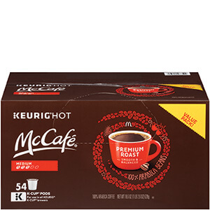 McCafe Coffee Pods 54ct